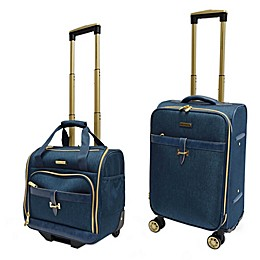 Adrienne Vittadini Two-Tone 2-Piece Carry On Luggage Set