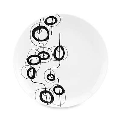Dansk® Lotta Shake 8-Inch Salad Plate in Black