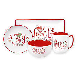 Certified International Holiday Greetings Serveware Collection
