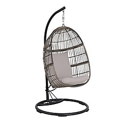 Bee & Willow™ Home Hanging Patio Egg Chair in Oyster