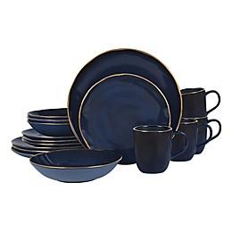 Olivia & Oliver™ Harper Blue Gold 16-Piece Dinnerware Set