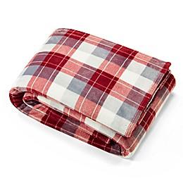 Nautica® Bluff Plaid Ultra Soft Plush Blanket in Red