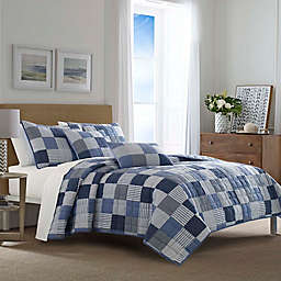 Nautica® Holly Grove Quilt Set in Blue