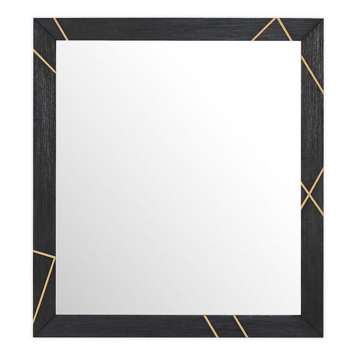 Alternate image 1 for Wood & Metal Inlay 42-Inch x 38-Inch Dresser Mirror