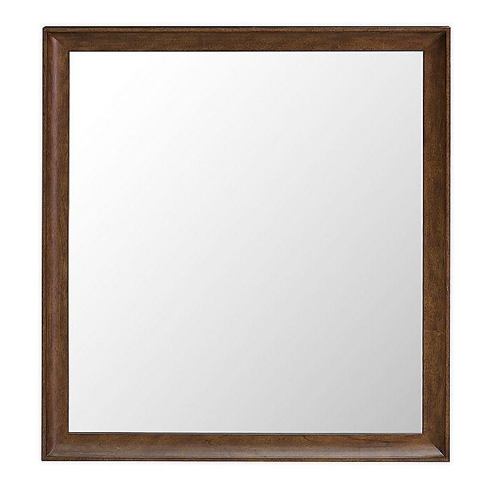 Alternate image 1 for HomeFare Knotty 40-Inch x 36-Inch Dresser Mirror in Brown