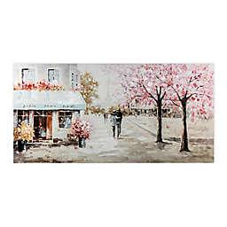 Street Scene 48-Inch x 24-Inch Wrapped Canvas Wall Art