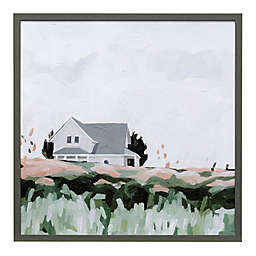 "Contemporary Barn 32"" Square Framed Wall Art"