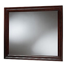 Baxton Studio Justice 49-Inch x 41.88-Inch Rectangular Dresser Mirror in Dark Brown