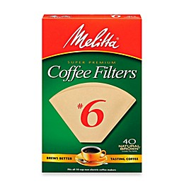 Melitta® 40-Count Number 6 Super Premium Coffee Filters