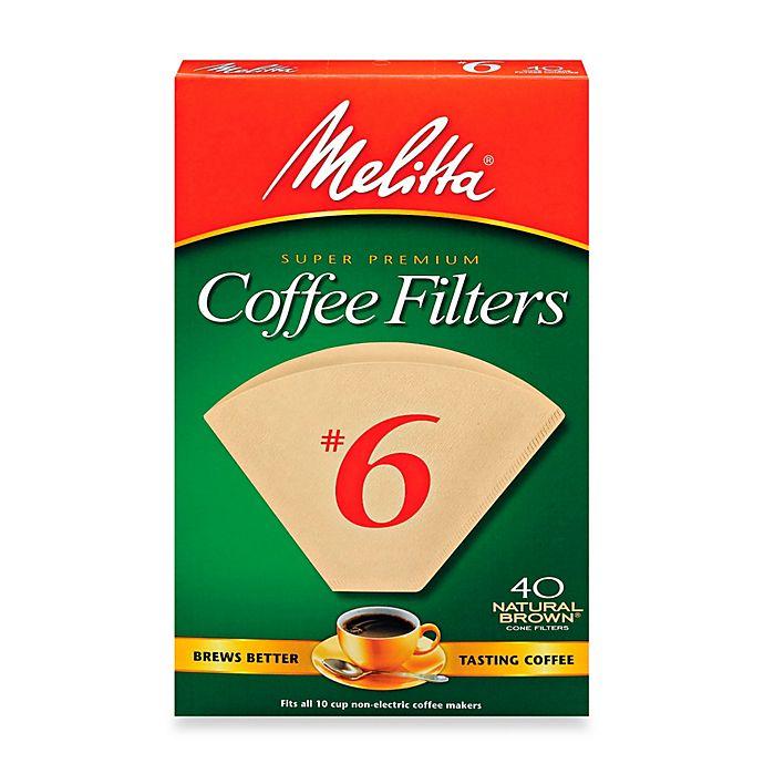 Alternate image 1 for Melitta® 40-Count Number 6 Super Premium Coffee Filters