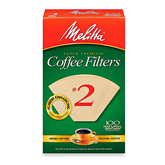 Alternate image 1 for Melitta® 100-Count Number 2 Super Premium Coffee Filters