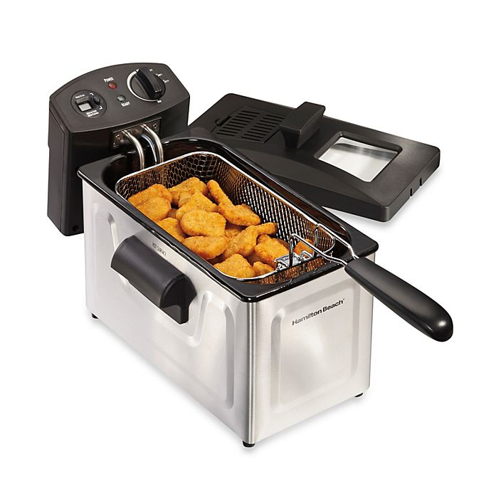 Alternate image 1 for Hamilton Beach® Professional-Style 12-Cup Stainless Steel Deep Fryer