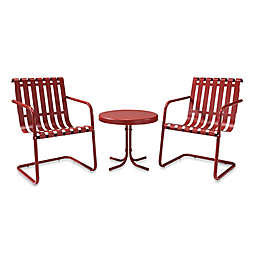 Crosley Gracie 3-Piece Metal Outdoor Seating Sets