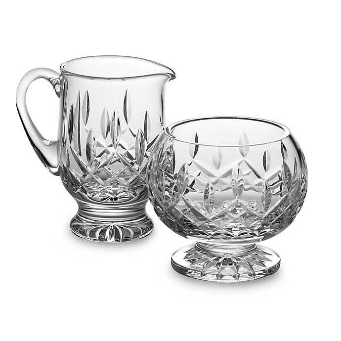 Alternate image 1 for Waterford® Lismore Crystal Footed Sugar and Creamer