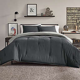 Nautica® Solid Reversible Microfiber Full/Queen Comforter Set in Grey