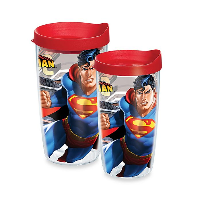 Alternate image 1 for Tervis® Superman Wrap Design Tumbler with Lid