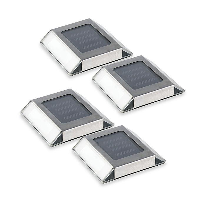 Alternate image 1 for Solar Pathway LED Lights (Set of 4)