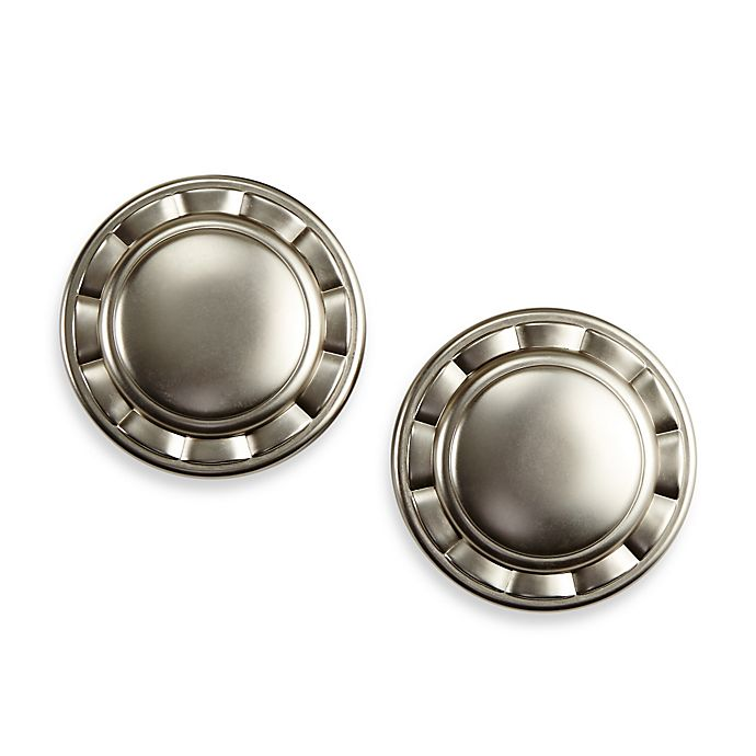 Alternate image 1 for Cambria® Elite Complete Drapery Spindle in Brushed Nickel (Set of 2)