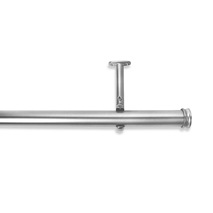 Alternate image 1 for Cambria® Premier Complete Decorative 28-Inch x 48-Inch Drapery Rod in Polished Nickel
