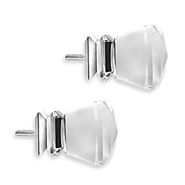 Cambria® Premier Complete Princess Cut Finial in Polished Nickel (Set of 2)