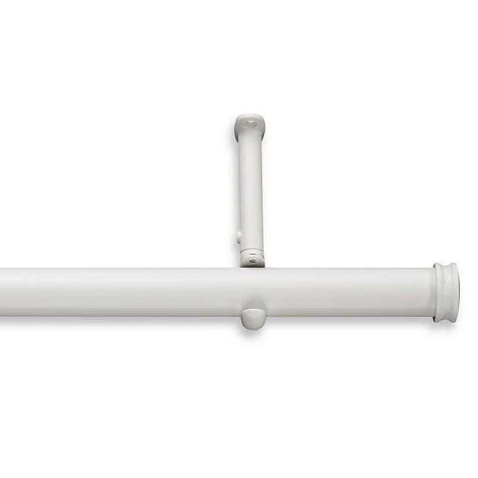 Alternate image 1 for Cambria® Premier Complete Decorative 48-Inch x 88-Inch Drapery Rod in Satin White