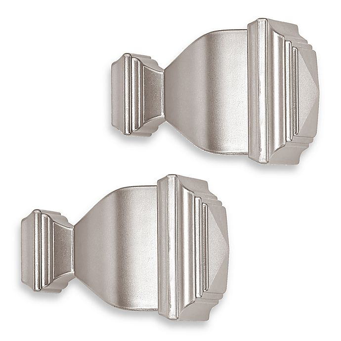 Alternate image 1 for Cambria® Classic Complete® Napoleon Finial in Brushed Nickel (Set of 2)