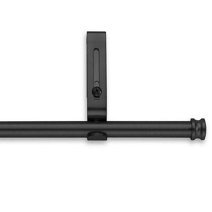 Alternate image 1 for Cambria® Classic Complete® Decorative 28-Inch to 48-Inch Drapery Rod in Satin Black