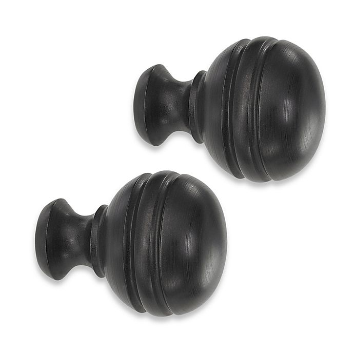 Alternate image 1 for Cambria® Classic Complete® Orbit Finial in Matte Brown (Set of 2)