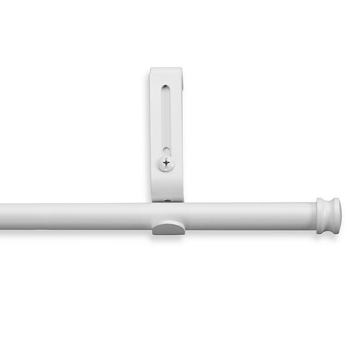 Alternate image 1 for Cambria® Classic Complete® Decorative 28-Inch - 48-Inch Drapery Rod in Satin White