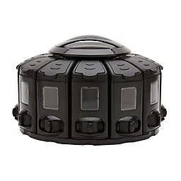 Kitchenart® Select-A-Spice® Plastic Under-Cabinet Spice Carousel in Black