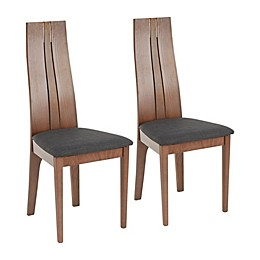 LumiSource® Aspen Dining Chairs in Walnut/Charcoal (Set of 2)