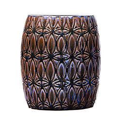 Southern Enterprises Narella Multicolored Ceramic Accent Table