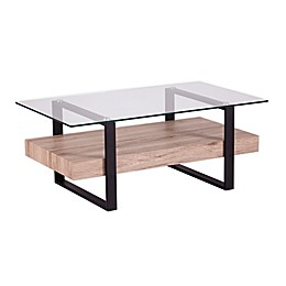 Southern Enterprises Granstead Coffee Table in Natural/Black