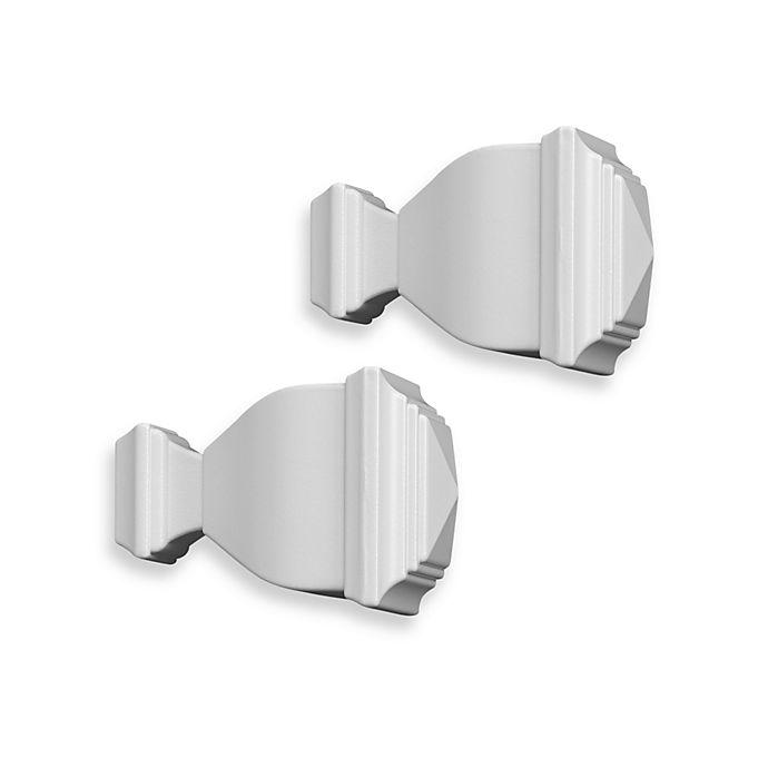 Alternate image 1 for Cambria® Classic Complete® Napoleon Finial in Satin White (Set of 2)