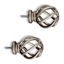 Cambria® Elite Complete Birdcage Finial in Brushed Nickel (Set of 2)