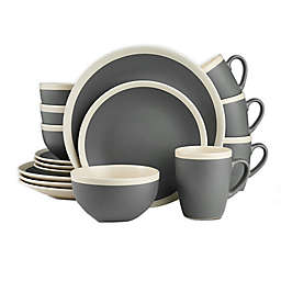Stone Lain 16-Piece Dinnerware Set in Grey/Cream