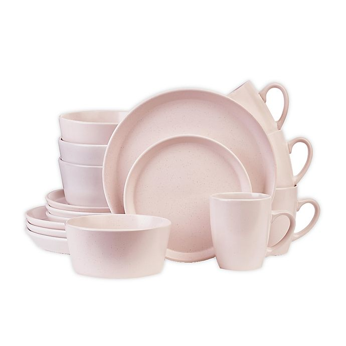 Alternate image 1 for Stone Lain 16-Piece Dinnerware Set in Pink