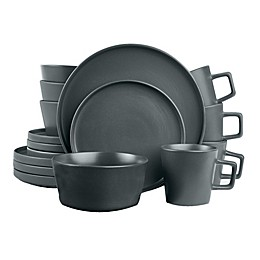 Stone Lain 16-Piece Dinnerware Set in Matte Grey