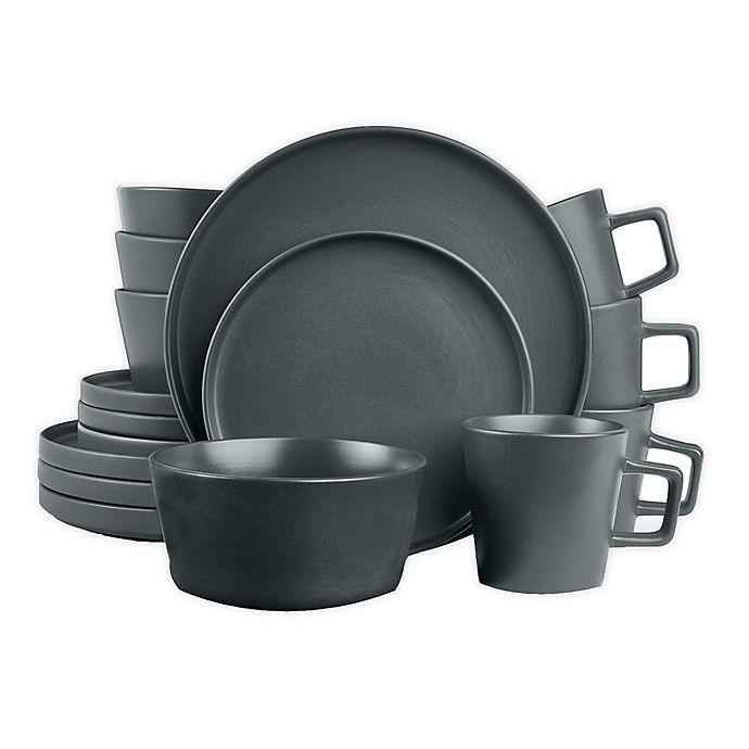 Alternate image 1 for Stone Lain 16-Piece Dinnerware Set in Matte Grey