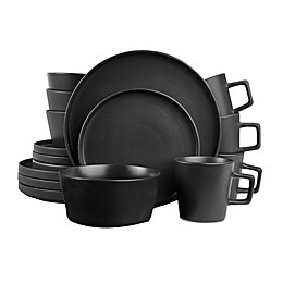 Stone Lain 16-Piece Dinnerware Set in Matte Black
