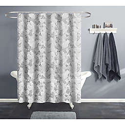 India Ink 70-Inch x 72-Inch Marble Bubble Shower Curtain