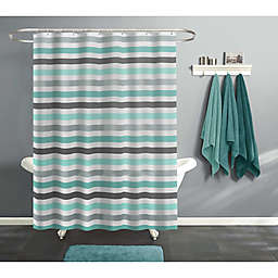 India Ink 70-Inch x 72-Inch Cabana Stripe Shower Curtain