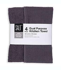 Toallas de usos múltiples para cocina SALT® en  grafito, Set de 4