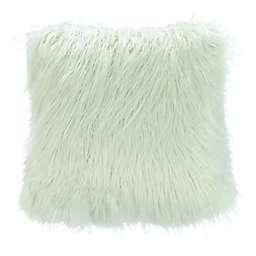 Safavieh Caelie Faux Fur Square Throw Pillow in Mint