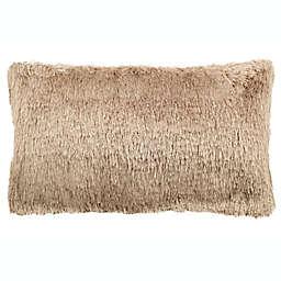 Safavieh Chic Shag Oblong Throw Pillow in Beige