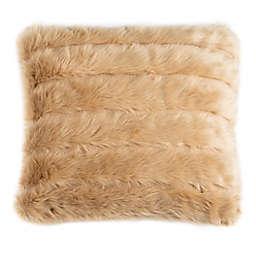 Safavieh Genevra Faux Fur Square Throw Pillow in Brown
