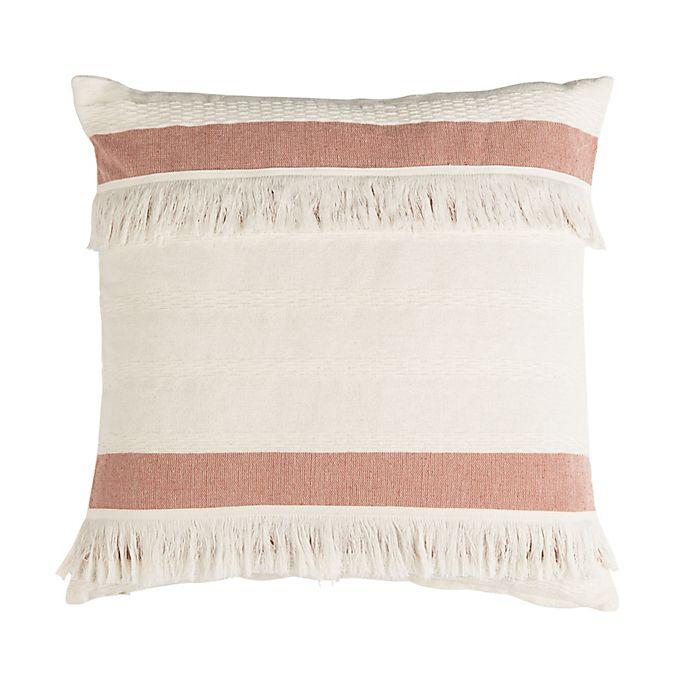 Alternate image 1 for Safavieh Nila Square Throw Pillow in Mauve/Beige