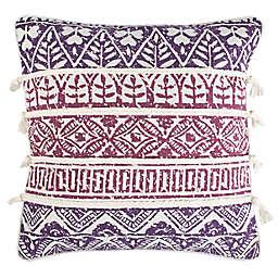 Safavieh Mela Square Throw Pillow in Purple/Beige