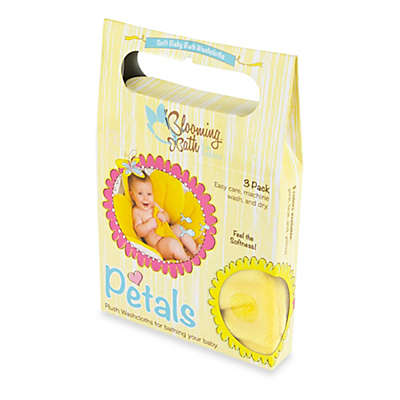 Blooming Bath™ Petals 3-Pack Washcloths in Yellow