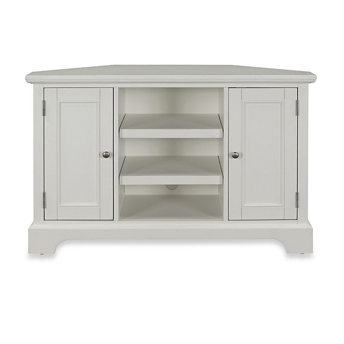 Home Styles Naples Corner Tv Stand In White Bed Bath Beyond